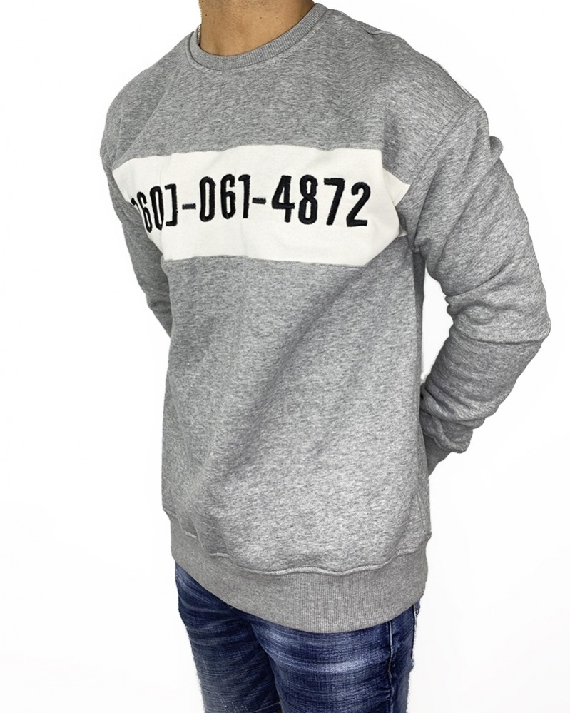 Sudadera Number Grey