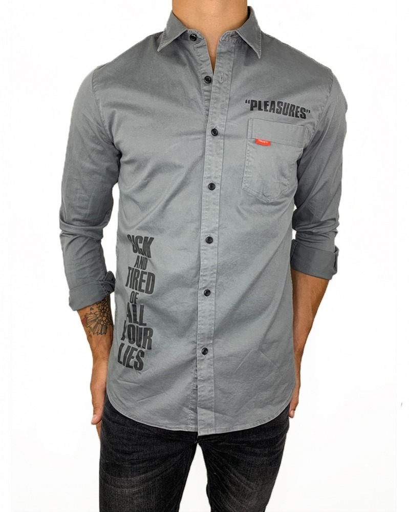 Camisa Pleasures Grey
