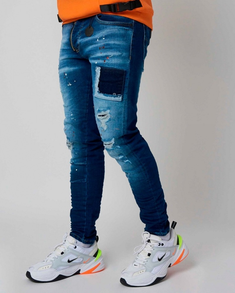 Skinny Jeans with Paint...